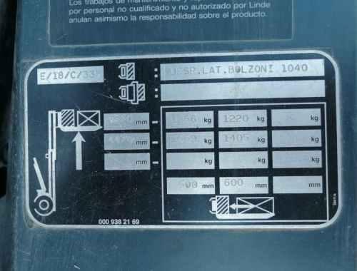 Toro elèctric LINDE E 18 de 1600kg de segona mà en venda a cabauoportuntiats.com Balaguer -Lleida - Catalunya