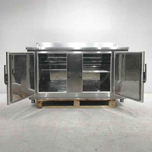 Taula d'acer inoxidable amb armari inferior de segona mà en venda a cabauoportunitats.com Balaguer - Lleida - Catalunya