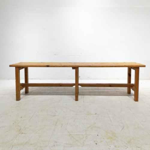 Banc de fusta de segona mà per a vestidor de 200x33x43cm en venda a cabauoportunitats.com Balaguer - Lleida - Catalunya