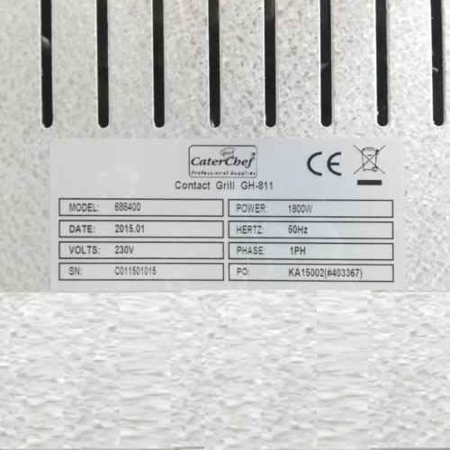 Planxa grill CATER CHEF GH-811 de segona mà en venda a cabauoportunitats.com Balaguer - Lleida -Catalunya