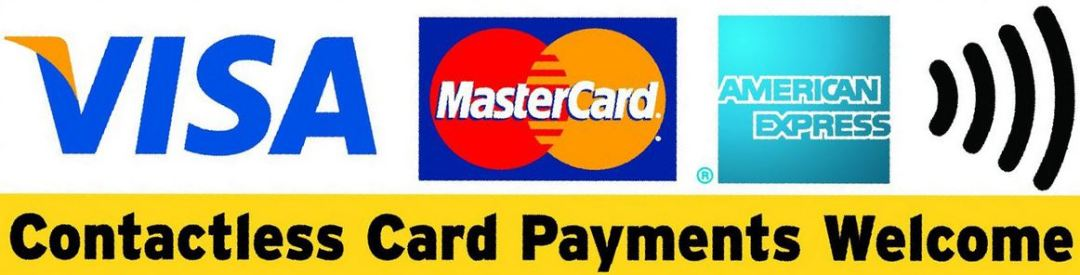 Card payments welcome
