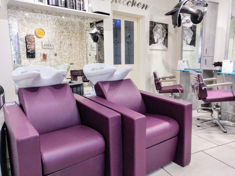 Rear areas at Cabelo hair salon in Limes Road, Tettenhall