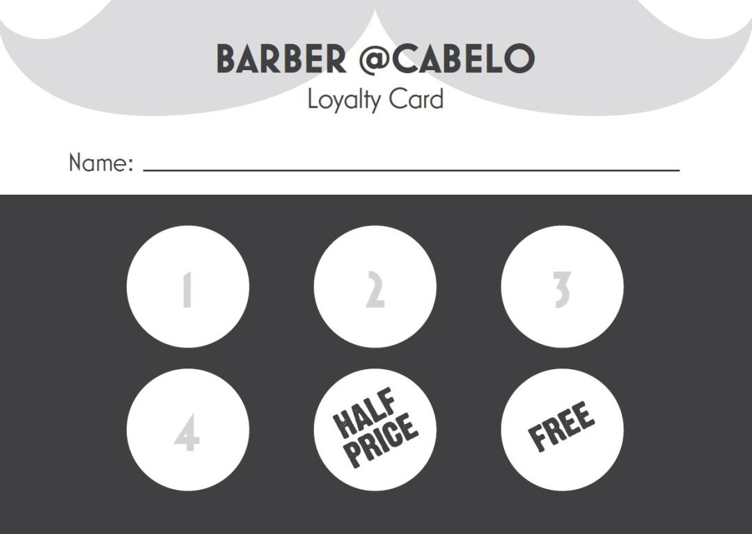 Barber Loyalty Card
