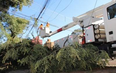 Evento mais grave da história da Copel mobiliza eletricistas de todo o Paraná. (Foto Copel)