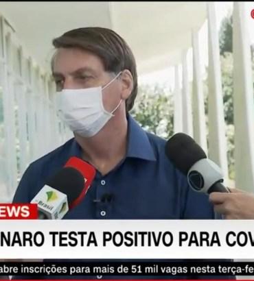 Bolsonaro confirma teste positivo para a Covid-19