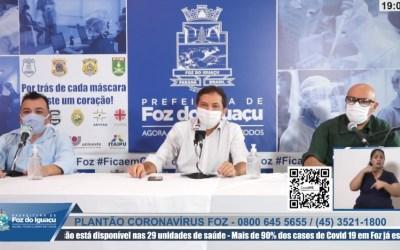 Live Prefeitura de Foz (Imagem Reprodução Facebook)