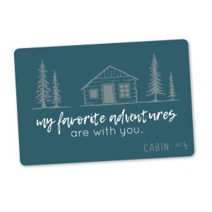 green gift card - my favorite adventures are with you