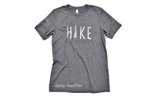 Hike tee with Cabin No 4 logo on sleeve - deep htr