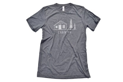 Cabin No. 4 logo t-shirt - deep heather color