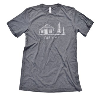 Cabin No. 4 logo t-shirt - deep heather color