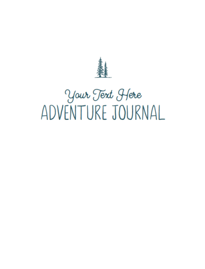 personalized cover - adventure journal