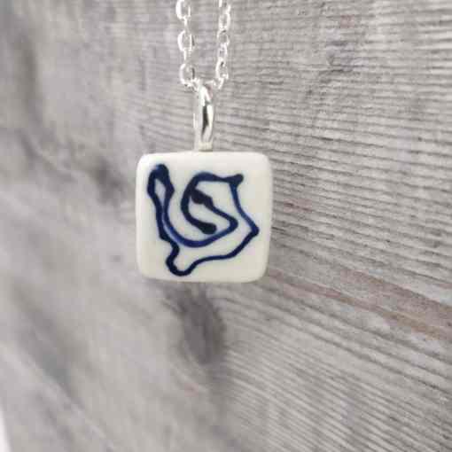 Cobalt Porcelain Pendant