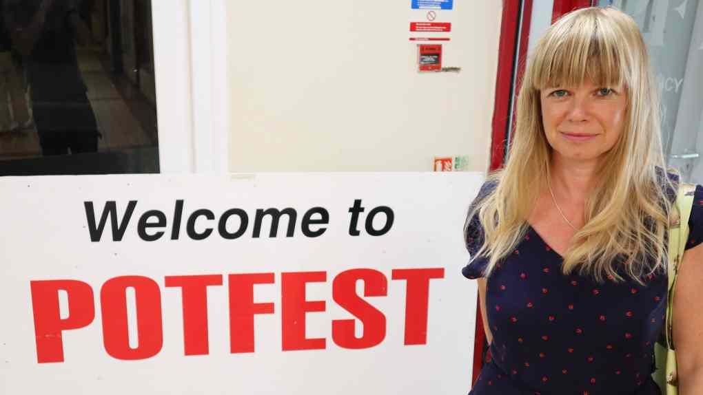 Lisa Reeve of Cabin Ceramics visits Potefest
