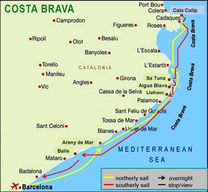 Sailing Costa Brava, Spain