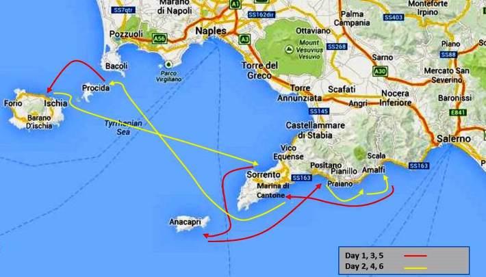 Y&I-Amalfi Itinerary