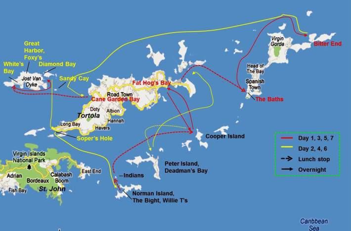 CCS Itinerary, BVI