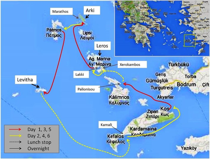 CCS Greece, Dodecanese Itinerary