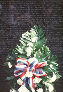 Vietnam Memorial Wall photographed by Mary Ann Sullivan