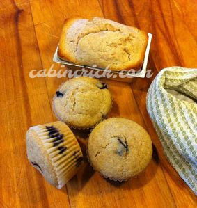 CabinCrick Bakes Blueberry Muffins