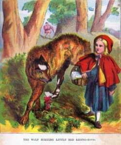 The Wolf Meeting Little Red Riding Hood