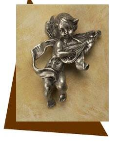 Anne at Home Cherub with Mandolin Cabinet Knob
