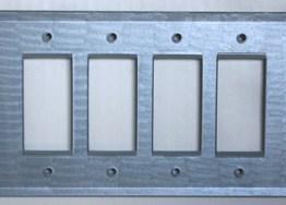 Susan Goldstick Decorative Switchplates Glass Cover Quad Decora Light Sapphire