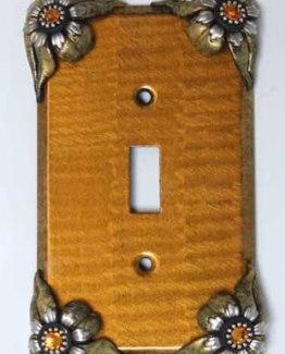 Susan Goldstick Decorative Switchplates Bloomer Sunflower Switch Cover1 - Deep Gold/Light Gold