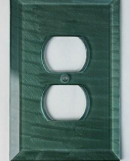 Susan Goldstick Decorative Outlets Glass Outlet Cover Aqua