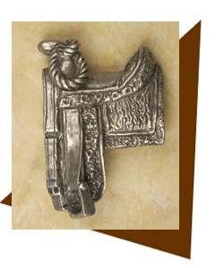 Anne at Home Cowboy Western Saddle Cabinet Knob/ Right