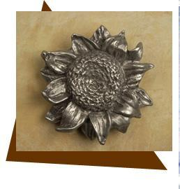 Anne at Home Sunflower Cabinet Knob/Small