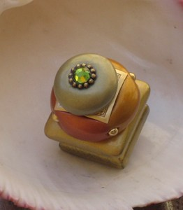 Susan Goldstick Copper Duo Square Decorative Cabinet Knob