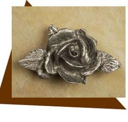 Anne At Home Single Rose Cabinet Knob - Small