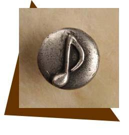 Anne At Home Single Musical Note Cabinet Knob