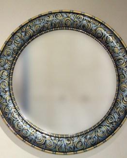 Susan Goldstick Decorative Mirror - Aurora Mirror - Light sapphire/Light Gold/Deep Opal