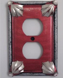 Susan Goldstick Decorative Outlets Cleo Outlet Cover Ruby
