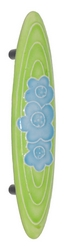 Acorn Manufacturing Small Cabinet Pull Light Green Blue Flower