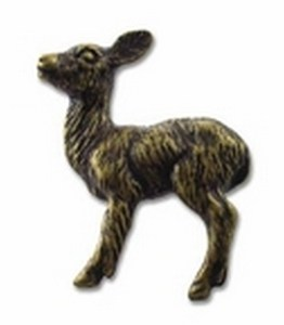 Big Sky Hardware-Baby Deer Cabinet Knob-Antique Brass