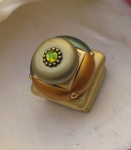 Susan Goldstick Emerald Duo Square Decorative Cabinet Knob