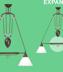 Architects & Heroes Interiors Telescopic Twin Two-Light in Aged Brass