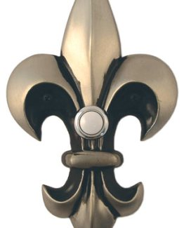 Waterwood Hardware Decorative Fleur Di Lis Doorbell-Large-Pewter