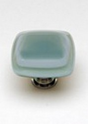 Sietto Glass Cabinet Knobs Stratum Spruce Green