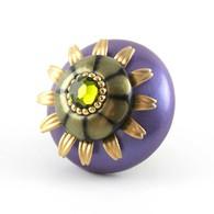 Susan Goldstick Mini Iris Periwinkle Purple 2 inch Cabinet Knob