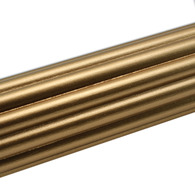 "Susan Goldstick Reeded Gold Curtain Rod 6ft/2"" diameter"