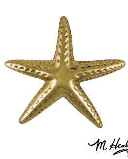 Michael Healy Designs Starfish Door Knocker - Brass-Premium