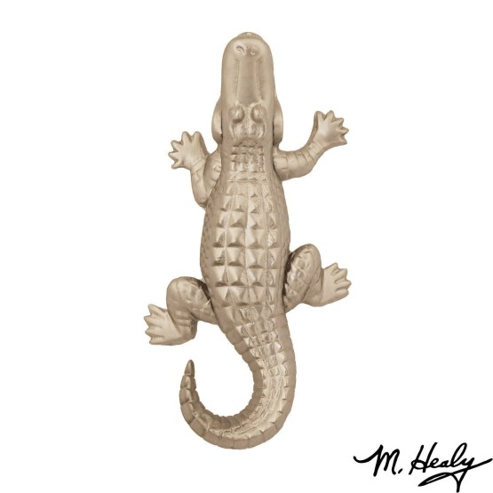 Michael Healy Designs Alligator Door Knocker - Nickel Silver-Premium