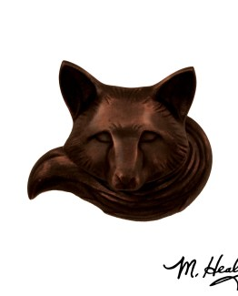 Michael Healy Designs Fox Doorbell Ringer Oil Rubbed Bronze
