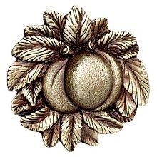 "Notting Hill Cabinet Knob Georgia Peach Antique Brass 1-5/8"" diameter"