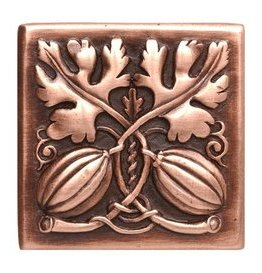 "Notting Hill Cabinet Knob Autumn Squash Antique Copper 1-1/2"" square"