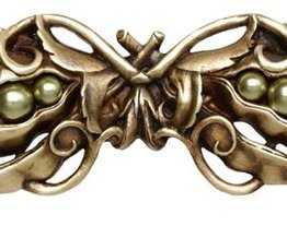 """Notting Hill Cabinet Pull Pearly Pea-pod Antique Brass 5"""" x 1-1/2"""""""