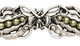 """Notting Hill Cabinet Pull Pearly Pea-pod Brilliant Pewter 5"""" x 1-1/2"""""""